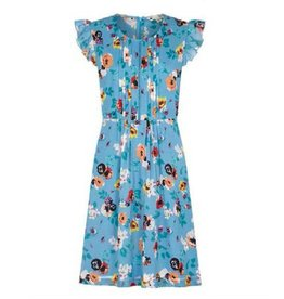 Yumi Georgia Ladder Front Day Dress in Blue