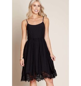 Yumi Louisa- Lace Trim Dress