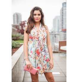 Papillon Lisa Floral Dress in Mint