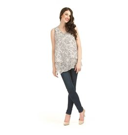 Papillon Leaf Georgette Top
