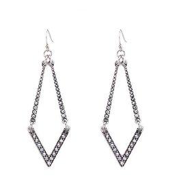 Diamond Rocket CZ Drop Earrings