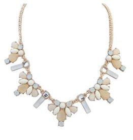 Diamond Rocket Pale Bib Necklace