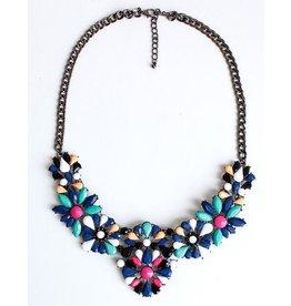 Diamond Rocket Black & Brights Bib Necklace