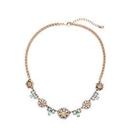 Diamond Rocket Floral Cz Necklace