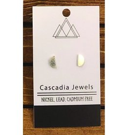 Cascadia Jewels Studs- Half Circles