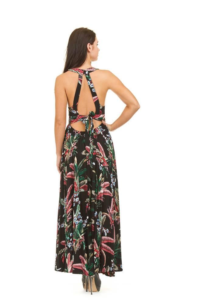 Papillon Jayne- Tropical Print Tie