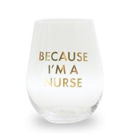 Mary Square Stemless Wineglass-Nurse