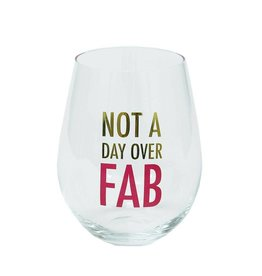 Mary Square Stemless Wineglass-Fabulous