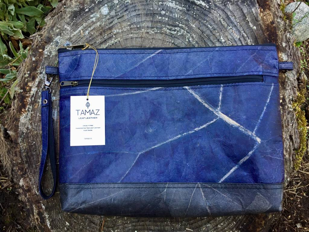 Tamaz Leaf Leather-Tri Coloured Purse