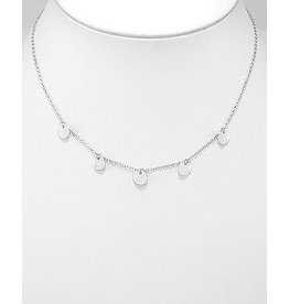 Sterling Silver Choker W/Round Charms