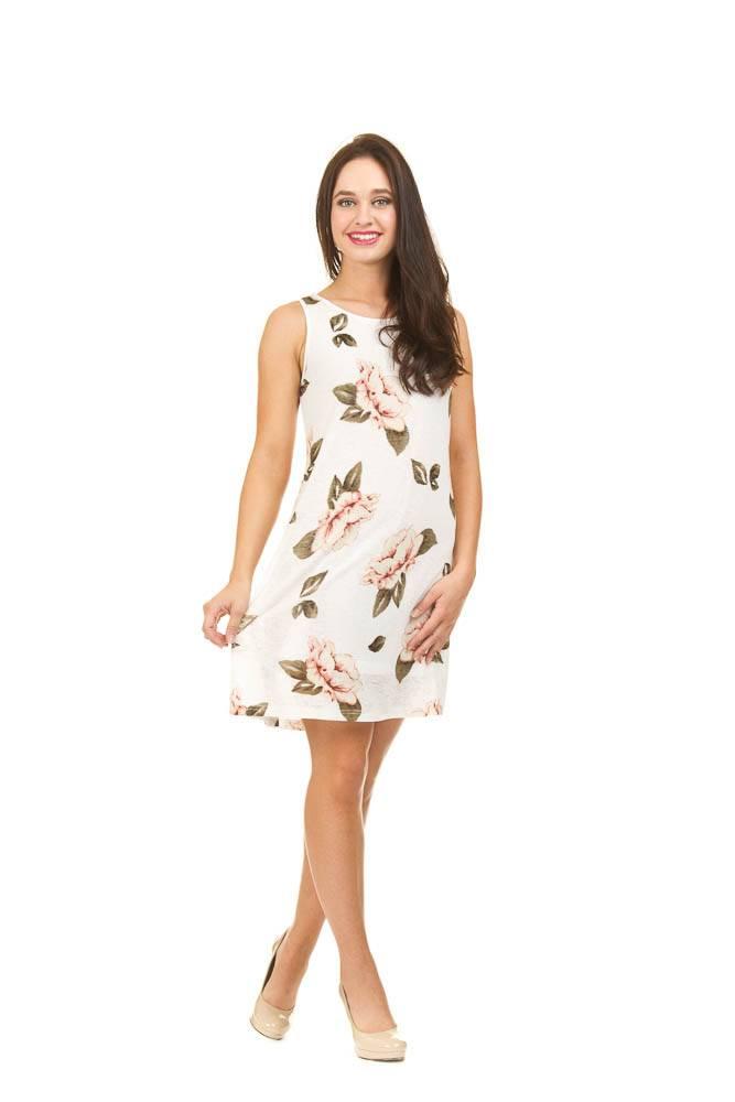 Papillon Sandra Rose Print Dress