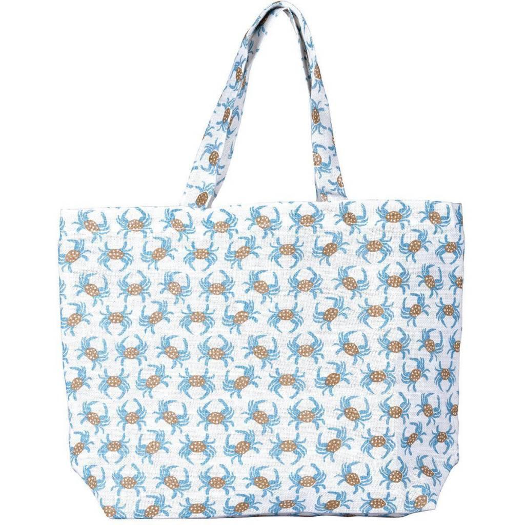 Rockflowerpaper Chesapeake Crab Jute Bag