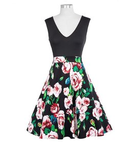 Frock It Black and Bloom Dress