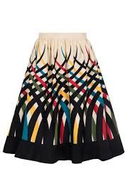 VooDoo Vixen Emma Border Print Skirt