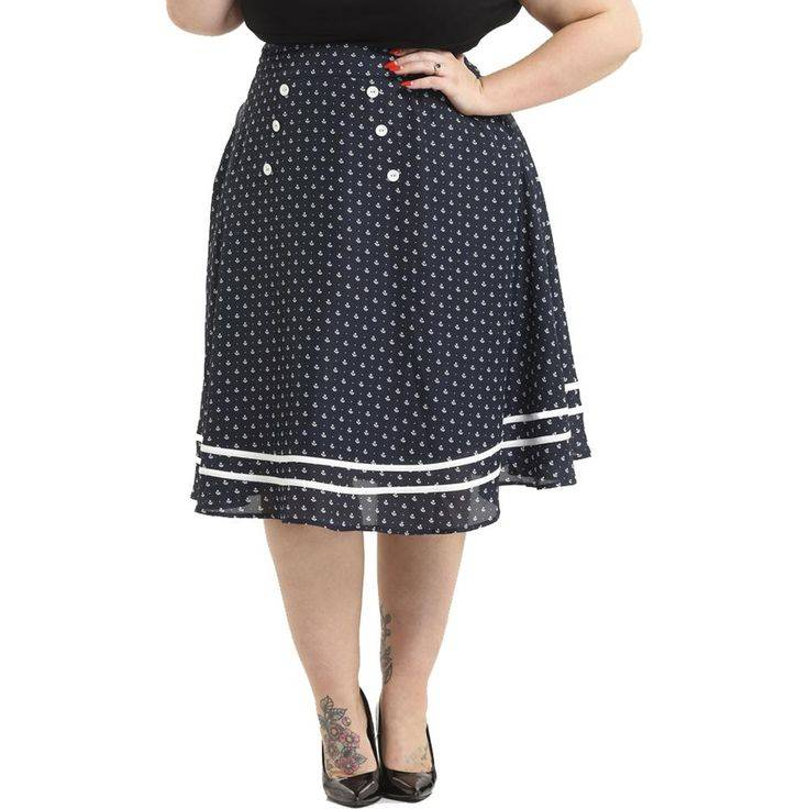 VooDoo Vixen Nautical Swing Skirt