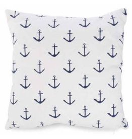 Pillow- White W/Anchors