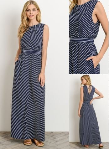 Delfina Striped Maxi Dress