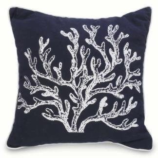 Pillow- Navy W/Coral