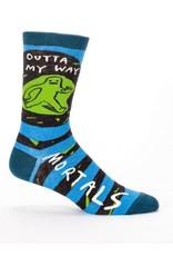 Blue Q Men's Socks-Outta my Way Mortals