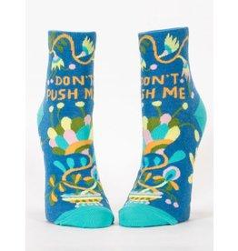 Blue Q Ladies Ankle Socks-Don't Push Me