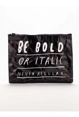 Blue Q Zipper Pouch-Bold Italic