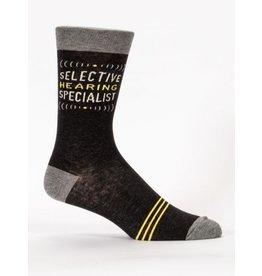 Blue Q Men's Crew Socks-Selective Hearing
