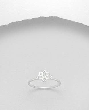 Sterling Sterling Ring-Lotus