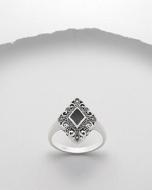 Sterling Sterling Ring- Marcasite Diamond