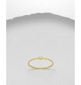 glimmer Gold Ring W/CZ