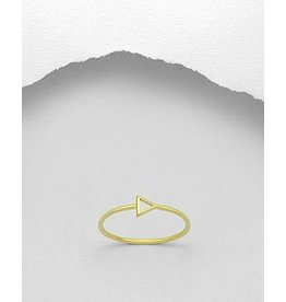 glimmer Gold Ring- Triangle