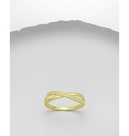 glimmer Gold Ring- Double W/CZ