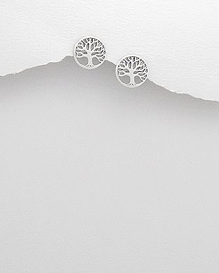 Sterling Studs- Tree Of Life