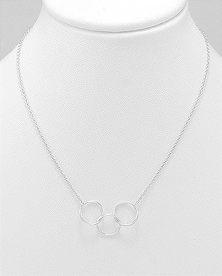 Sterling Necklace- Triple Circles