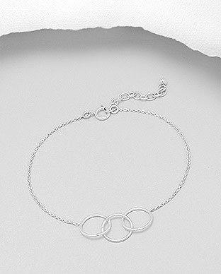 Sterling Bracelet- Triple Circles