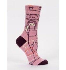 Blue Q Ladies Crew Socks- Introverting