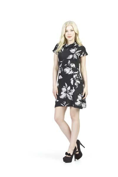 Papillon Pam- Floral Sweater Dress