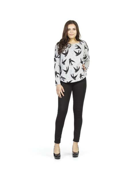 Papillon Sparrow Print Sweatshirt