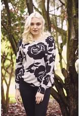 Papillon Floral Print Sweatshirt
