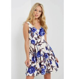 Mai Tai Zoey Blue Floral Dress