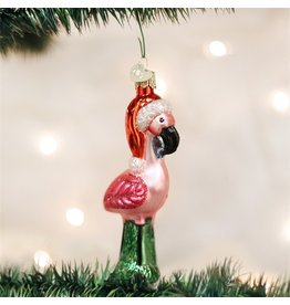 Old World Christmas Yard Flamingo Ornament