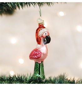 Old World Christmas Yard Flamingo Ornament