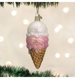 Old World Christmas Ice Cream Cone Ornament