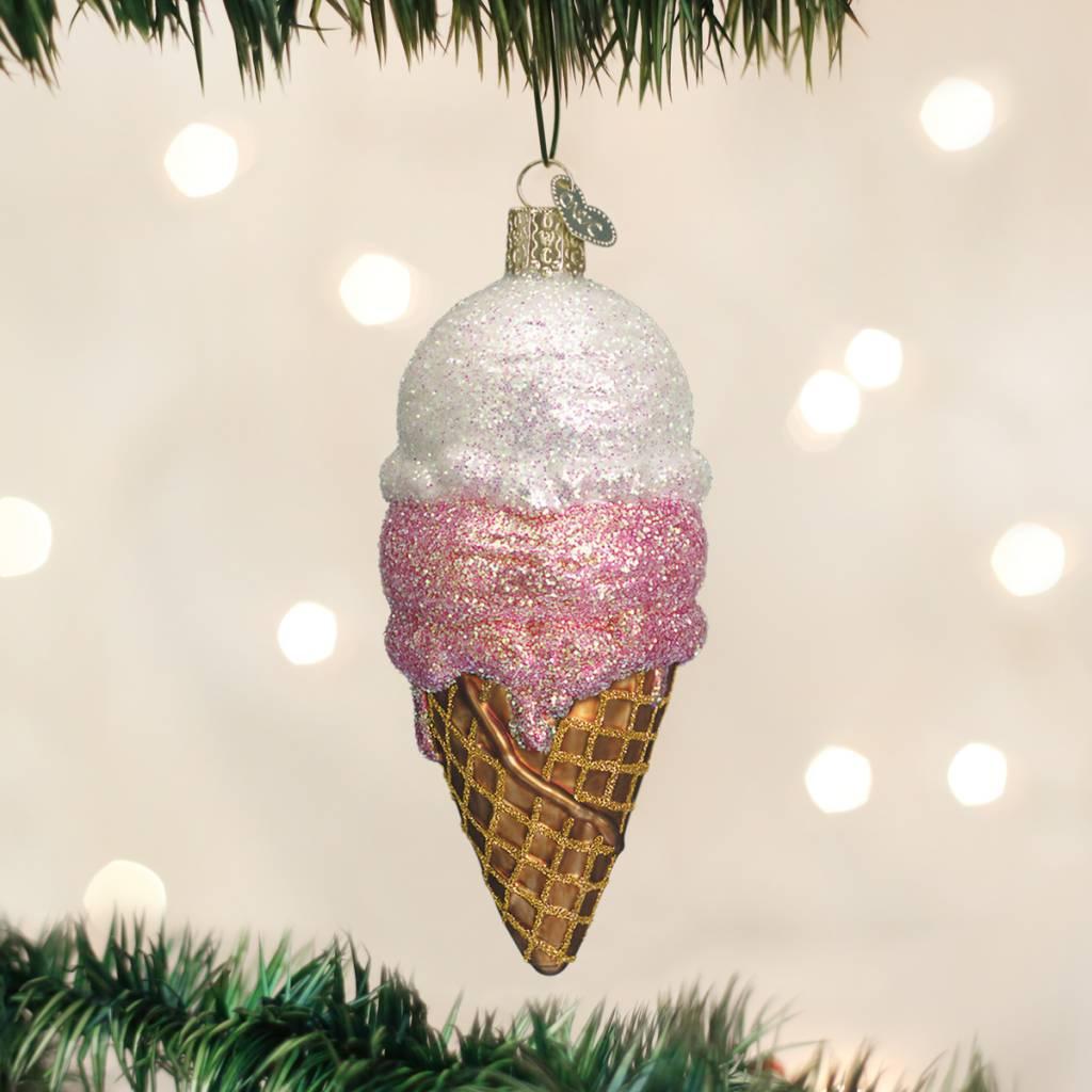 Ice Cream Cone Ornament - Cameron Rose