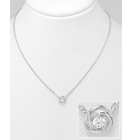 Sterling Necklace- Cubic Zircon
