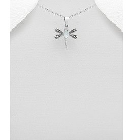 Sterling Necklace- Marcasite Dragonfly