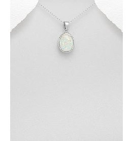 Sterling Necklace- Sterling W/Opal