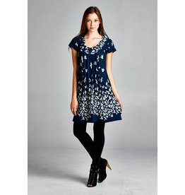 Lasoul Bird Print Tunic Dress