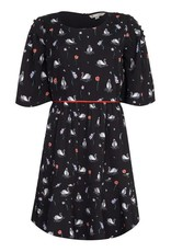 Yumi Dress-Swan Black