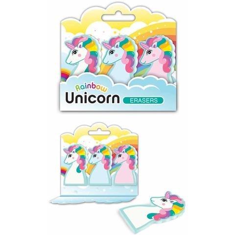 Streamline Rainbow Unicorn Erasers