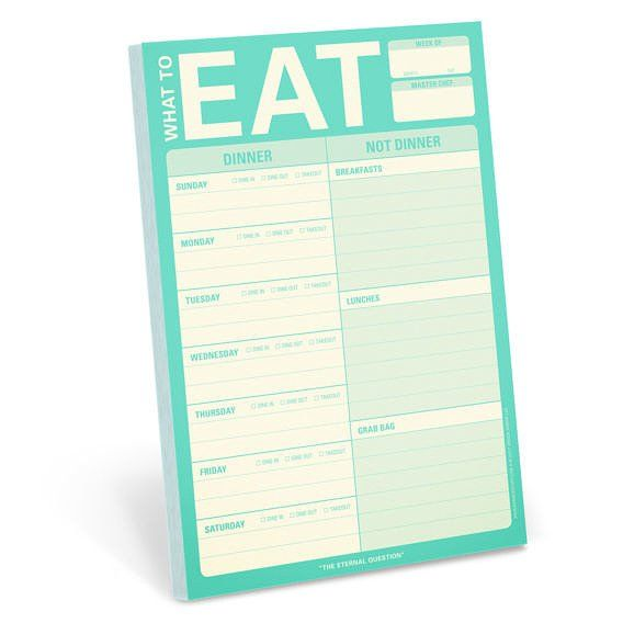 Knock Knock What to Eat Pad w/Magnet